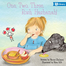 One, Two, Three Rosh hashanah book cover