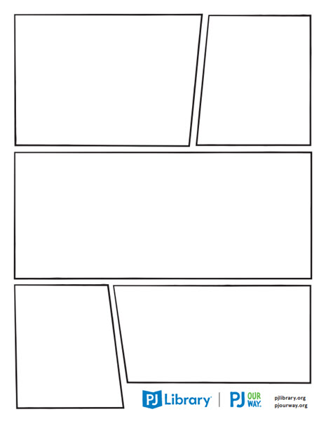 a blank graphic novel page
