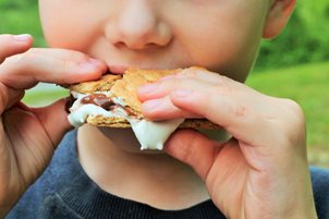 Child Eating S'more