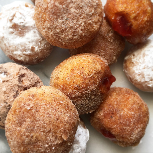 donut holes for Hanukkah