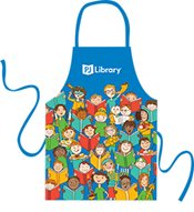 A photo of a PJ library apron