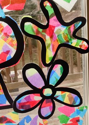 12 hanukkah activities we love pj library for Stained glass window craft with tissue paper