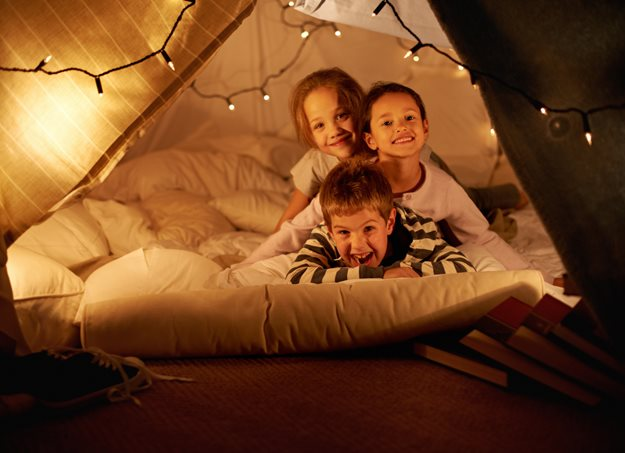 Kids in a fort