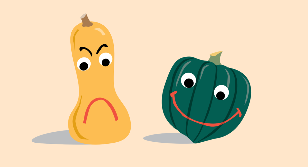 Yellow and Green Gourd Illustration
