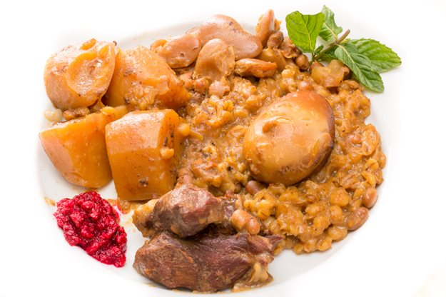 Cholent is a tasty stew that can be adapted to vegetarian diets too.