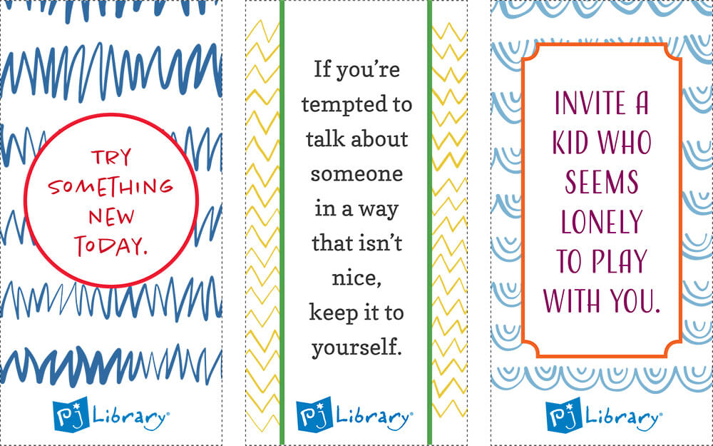 picture about Printable Lunch Notes named Printable Lunchbox Notes PJ Library