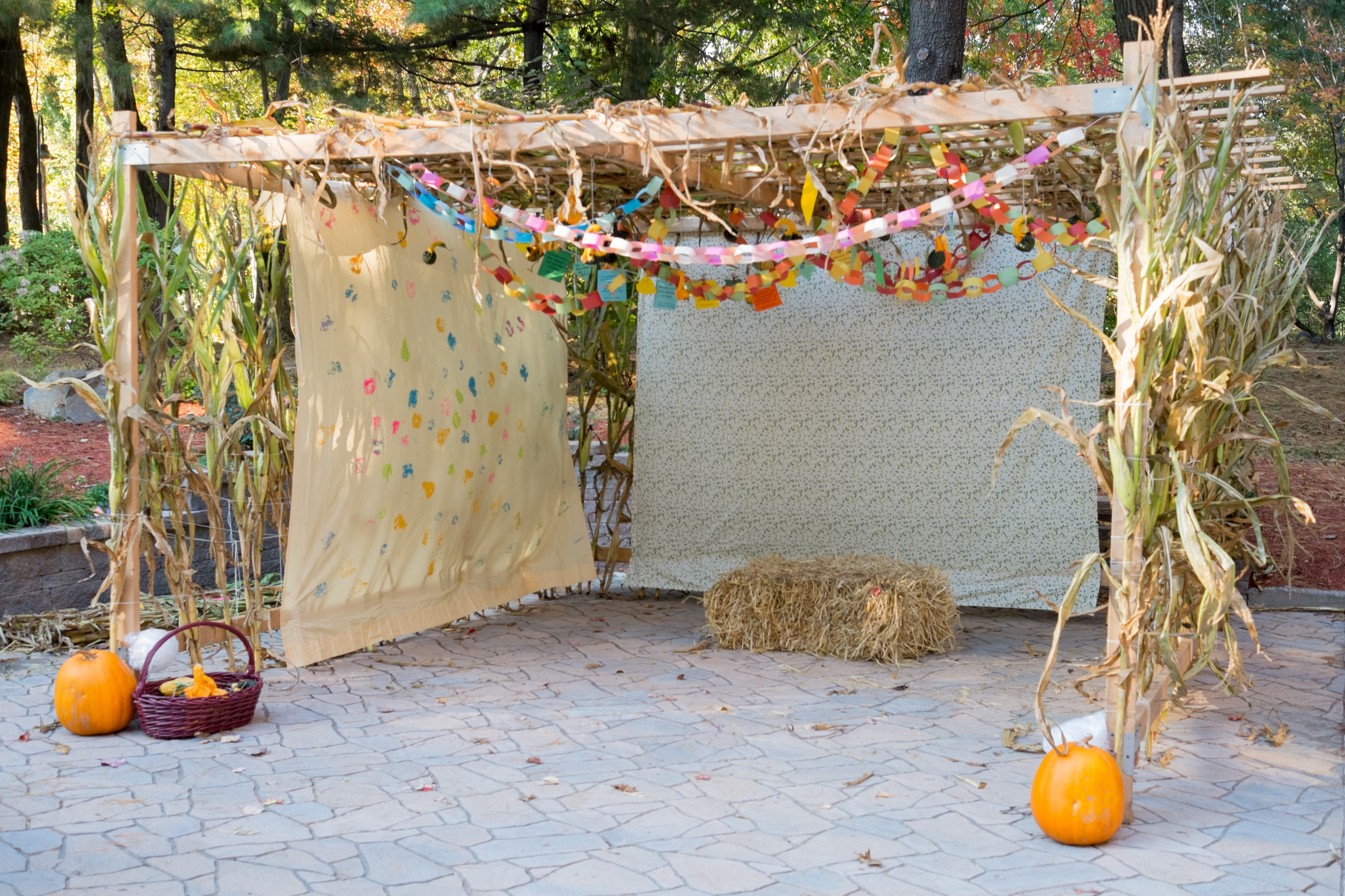 The sukkah outside of PJ Library headquarters